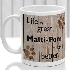 Malti-POM Tazza per cani, MALTI-POM cane regalo, ideale per attuale Amante dei Cani