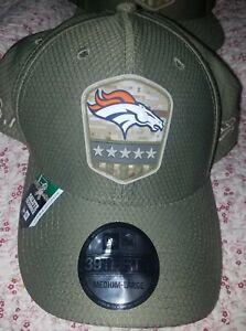 New Era 39THIRTY 2019 NFL DENVER BRONCOS Armed Forces Hat Cap Camo Medium-Large