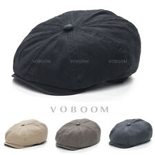 4468040f91dce Solid Cotton Men s Newsboy Cap Summer Beret Gatsby Cap Ivy Hats Golf Flat  Cabbie