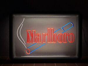 Rare Vintage Old Original 80s Marlboro Cigarettes Light Sign Not Enamel