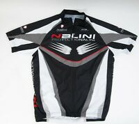 Nalini Protection Men's Cycling Jersey Size S Black White Made in Italy Bike