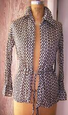 Vintage 1980 Beach Long Sleev 00004000 E Top Cover Up & Tie Ilgwu Sz S See Measurements E