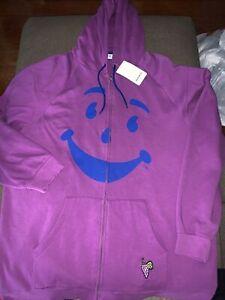NWT Men's Reebok Classic X Kool-Aid Grape Hoodie Purple Sz 2XL From 2008