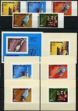 Space Raumfahrt 1976 Central Africa Apollo 401-405 U Block 9 U + Deluxe U/1240