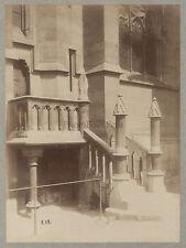 Architecture chrétienne Art gothique France Vintage albumine ca 1880