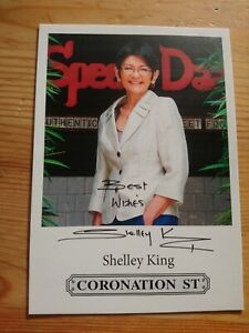 Shelley King Hand Signed Autographed Coronation Street Cast Photo As Yasmeen