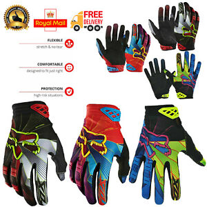 Cycling Gloves Mountain Bike MTB BMX Full Finger Windproof Racing Off Road Sport