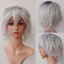 Colorful Halloween Costume Wig Warped Shaggy Haircut Shrot Party Wigs Synthetic