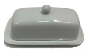 Dash of That Covered Butter Dish Ceramic White