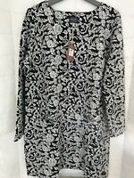 Joules Roya Jersey French Navy Jacquard Tunic size 18New With Tags