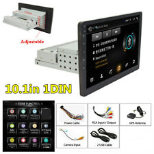 10.1in 1DIN Android 8.1 Quad-core 1+16GB Car Stereo Radio GPS Navi Wifi Player