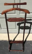 Bombay Co. Gentlemans Valet Butler Clothes Hanger Suit Pants Wood Taiwan Made