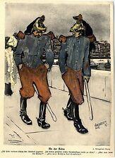 Albert Weisgerber, Paris An der Seine Köchin bei Loubets Histor.Karikatur1905/06