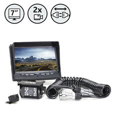 "2 Backup Camera System 7"" TFT LCD Screen, Weatherproof, Rear View Camera"