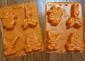 VTG 1996 Nickelodeon Ren And Stimpy Jello Jigglers Molds Ickis Krumm NEW Set 2