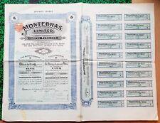Dépt 23 - Montebras - Ste Anglaise Exploitant Des Mines d'Etain en Creuse 1908