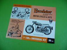 406KA2 Prospekt: Excelsior MOTOR CYCLES & KITS 150 cc UNIVERSAL, Consort-de-luxe