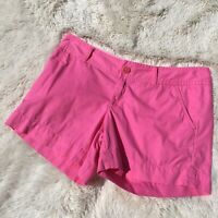 Women's LILLY PULITZER Solid Pink Casual Cotton Low Rise Shorts - 4