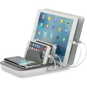 4smarts stazione ricarica wireless+cablata Family 50W per smartphone tablet FA8M