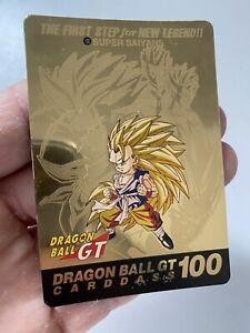 Dragon Ball Carddass GT Special 100 Part 28 Gold Dbz Card Carte Jap
