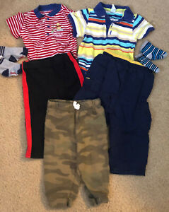 7 pc baby boy lot size 6-12 months Old Navy, Disney, Carter's mixed lot