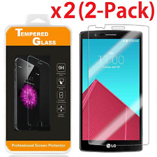 2-Pack Premium Real Tempered Glass Ultra Thin Clear Screen Protector for LG G4