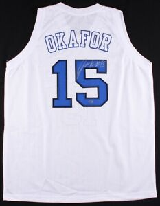 Jahlil Okafor Signed Duke Blue Devil's Jersey (Schwartz COA) 3rd Pick 2015 Draft