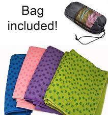 Sport Fitness Travel Exercise Yoga Mat Cover Towel Blanket Non-Slip Pilates UK!