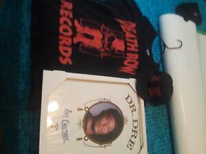 Dr Dre Death Row Records 2XL shirt, hat, chronic pic lot