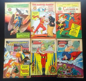 JERRY WEIST ESTATE: 10 title stripped FAWCETT Comic Books (1948-49) CAPT MARVEL