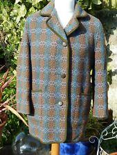 Vintage Welsh Wool Tapestry Coat Jacket - Size 14