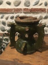 Très Ancien Belle Base Épi de Faîtage en terre cuite Vernissée, Château