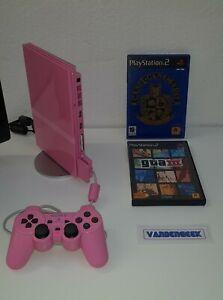 Ps2 Playstation 2 Slim Rose (Pink) + deux jeux complets