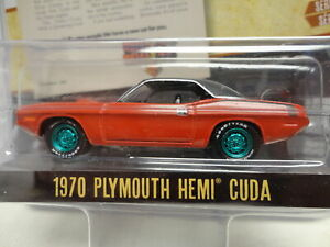 Greenlight GREEN MACHINE 1970 PLYMOUTH HEMI CUDA Red '70 VINTAGE AD CARS