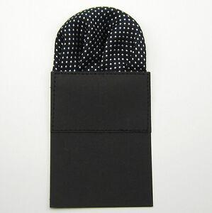 1Pc NEW Mens Dot Satin Prefold Pocket Square Hankie Handkerchief Suit