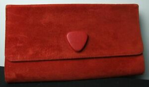 Jacques vert Red Suede Clutch Bag