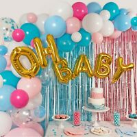 Gender Reveal Party Supplies Balloon Garland Kit - Tinsel Curtain and More!