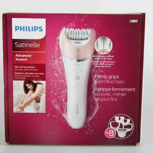 Philips BRE640/00 Satinelle Advanced Wet Dry Epilator, White Plus 9 Accessories