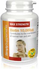 Biotin 10 000mcg 120 Tablets Healthy Hair Skin & Nail Growth Max Strength