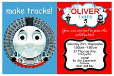 Thomas The Tank Engine Personalised Birthday Party Invitations - You Print