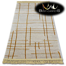 """VERY SOFT WOOL & ACRYLIC RUGS lines """"MANYAS"""" Thick & Densely Woven EASY TO CLEAN"""