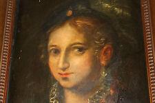 F1-016. PORTRAIT DE DAME. H/T. TRAVAUX POSSIBLES DE SOFONISBA ANGUISSOLA. XVII È