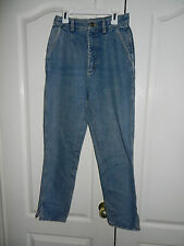 Lee Vintage 1980s Pleated Denim Stonewash Blue Jeans Juniors Sz 9 High Waisted