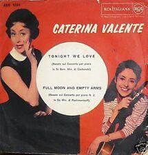 """CATERINA VALENTE TONIGHT WE LOVE 7"""" RARO  ITALY PS"""