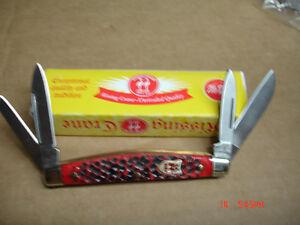 KISSING CRANE  RED JIGGED BONE  CONGRESS  FOLDING  KNIFE FOLDER