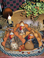 Primitive Patti's Ratties Thanksgiving Turkey Bird Ornies Paper Pattern #230