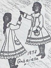 "Orig Franki's Antique Bebe Doll Parisian Dress Pattern Gabrielle 11"" to 27"""