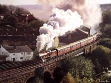 BEAUTIFUL PRINT PICTURE PAINTING STEAM TRAIN JUBILEE VIADUCT STEAM TRAIN RAILWAY