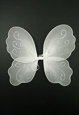 Girls White Fairy Christmas Angel Wings Fancy Dress Dressing Up Angel Fairy