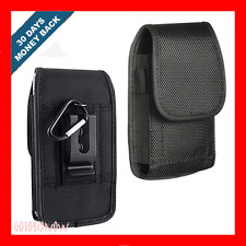 VERTICAL METAL CLIP NYLON POUCH PHONE PROTECTOR CASE+RING for SAMSUNG GALAXY S 4
